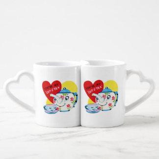 Las tazas románticas de los pares de la diversión  tazas para enamorados