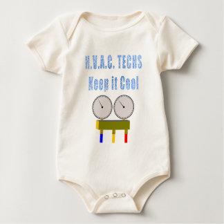 Las tecnologías de la HVAC lo guardan Cool.png Mameluco De Bebé