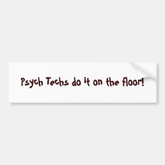 ¡Las tecnologías de Psych lo hacen en el piso! - M Pegatina Para Auto