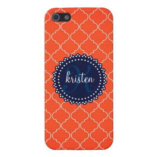 Las tejas anaranjadas modernas de Bristol personal iPhone 5 Cárcasa