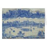 Las tejas de Azulejos que representan el Praca hac Tarjetas