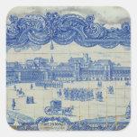 Las tejas de Azulejos que representan el Praca Colcomanias Cuadradas
