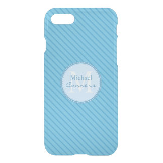 Las telas a rayas de los azules cielos funda para iPhone 7