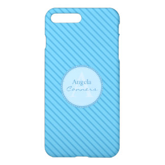 Las telas a rayas de los azules cielos funda para iPhone 7 plus