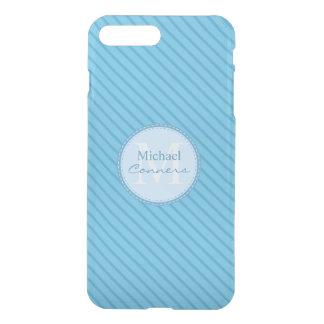 Las telas a rayas de los azules cielos fundas para iPhone 7 plus