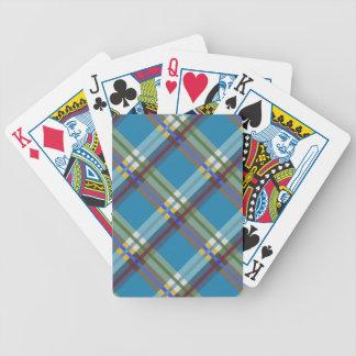 Las telas escocesas, los controles y los tartanes  barajas de cartas