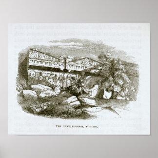 Las Templo-Tumbas en Norchia Póster