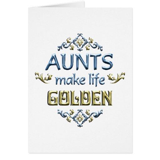 Las tías hacen vida de oro tarjeta de felicitación