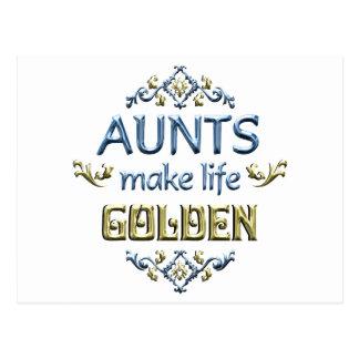 Las tías hacen vida de oro tarjeta postal