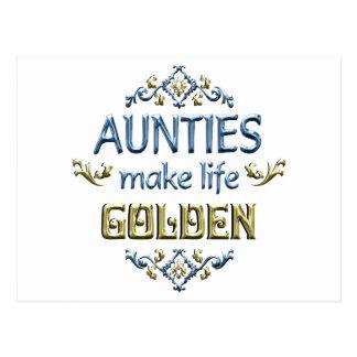 Las tías hacen vida de oro tarjetas postales