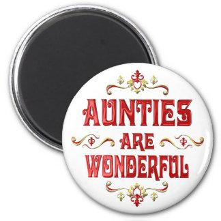 Las tías son maravillosas imán redondo 5 cm