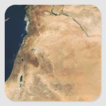 Las tierras de Israel a lo largo de la orilla del  Calcomania Cuadradas