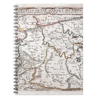 Las tierras de Mapa das hacen Paraíso tierra Sant Libros De Apuntes Con Espiral