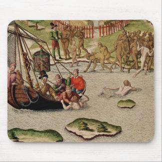 Las tierras del buque del francés alfombrillas de ratones