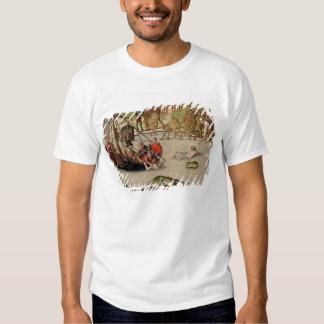 Las tierras del buque del francés camisas