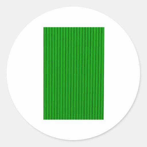 Las tiras del caramelo ponen verde los regalos de pegatina redonda