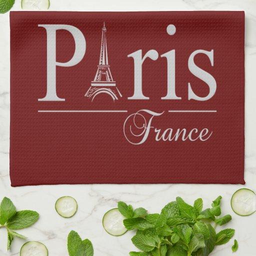 Las toallas de cocina de encargo de París Francia