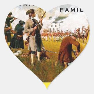 Las toneladas de Familys del patriota de artículos Pegatina En Forma De Corazón