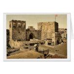 Las torres de David y de Hippicus, Jerusalén, sant Felicitación