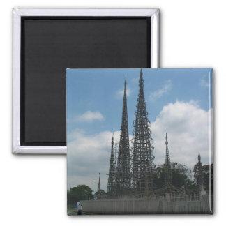 Las torres de los vatios imán cuadrado