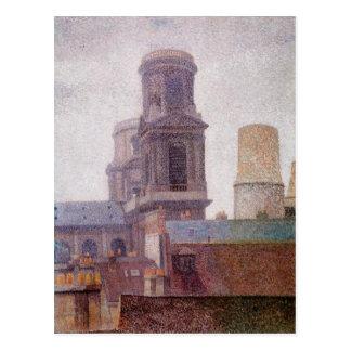 Las torres, Santo-Sulpice de Albert Dubois-Pillet Tarjetas Postales