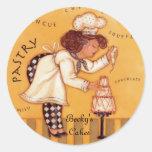 Las tortas de Becky Etiquetas Redondas