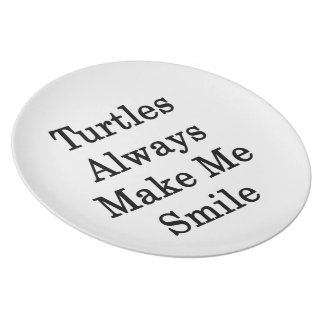 Las tortugas hacen siempre que sonríe plato de comida