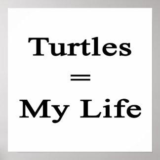 Las tortugas igualan mi vida impresiones