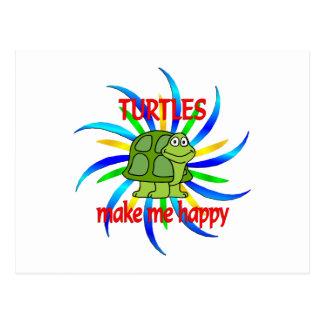 Las tortugas me hacen feliz postales