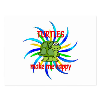 Las tortugas me hacen feliz tarjetas postales