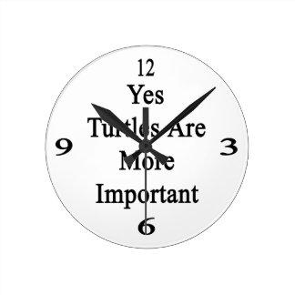 Las tortugas son sí más importantes reloj