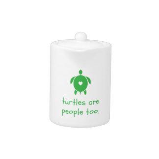 Las tortugas son tetera de la gente también