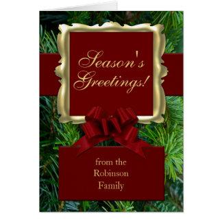 Las tradiciones ricas imprimieron tarjetas de