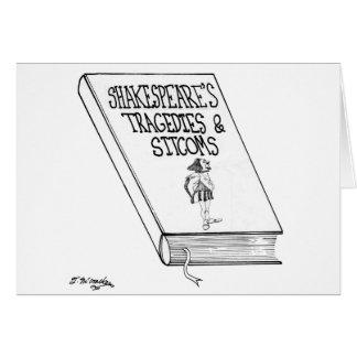 Las tragedias y las comedias de enredo de tarjeta de felicitación