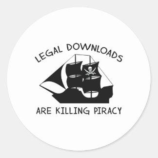 Las transferencias directas legales están matando pegatina redonda