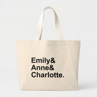 Las tres hermanas de Bronte el | Emily Charlotte Bolsa Tela Grande
