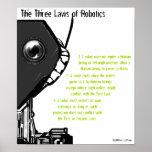 """""""Las tres leyes poster de la robótica"""""""