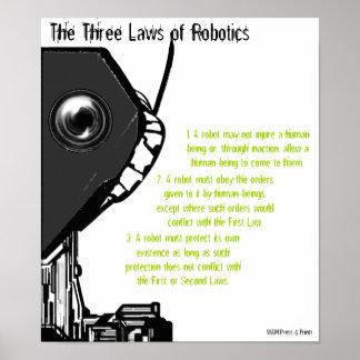 """Las tres leyes poster de la robótica"" Póster"