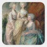 Las tres más viejas hijas de George III: Princesa Pegatina Cuadrada