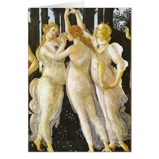 Las tres tolerancias de Sandro Botticelli Tarjeta De Felicitación
