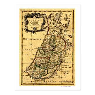 Las tribus de Israel en el mapa de Tarjeta Postal