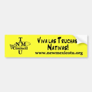 ¡Las Truchas Nativas de Viva! Pegatina para el par Pegatina Para Auto