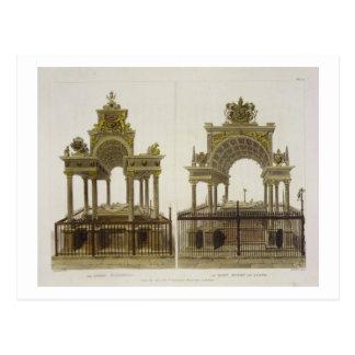 Las tumbas de la reina Elizabeth I y reina de Tarjetas Postales