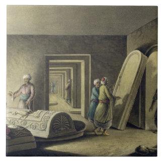 Las tumbas de los reyes de Judah, Jerusalén, pub.  Azulejo Cuadrado Grande