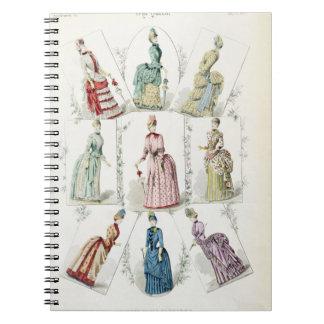 Las últimas modas de París, vestidos de nueve días Libro De Apuntes Con Espiral