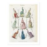 Las últimas modas de París, vestidos de nueve días Postal