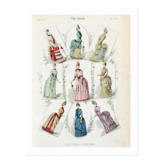 Las últimas modas de París vestidos de nueve días Tarjetas Postales