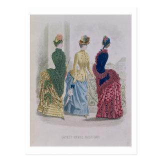 Las últimas modas de París vestidos de tres días Postales