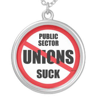 Las uniones del sector público chupan colgante redondo