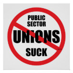 Las uniones del sector público chupan impresiones